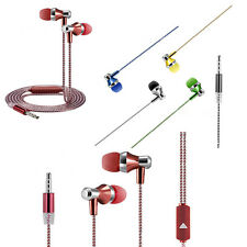 3.5mm In-Ear Earphone Two-tone Stereo Sport Headphone W/MIC For iPhone Samsung