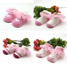 Toddle Baby Kids Girls Princess Lace Frilly Sock Infant Ruffled Cotton Socks New