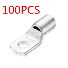 100PCS Cable Lugs Terminals Tinned Copper Welding Battery Marine AWG Cable Wire