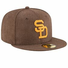 New Era San Diego Padres MLB Brown Cooperstown Heather Crisp 59FIFTY Fitted Hat