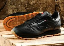 Shoes Reebok Classic Cl Leather Sneakers 49800 Classic Running Man Black Gum
