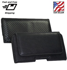 HORIZONTAL LEATHER CASE FOR IPHONE SAMSUNG S8  CARRYING POUCH BELT CLIP HOLSTER