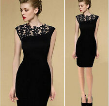 2017 Sexy Womens Lady Lace Sleeveless Bodycon Cocktail Evening Pencil Mini Dress