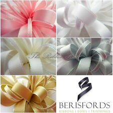 BERISFORDS 5MM - 15MM IRIDESCENT EDGE SATIN RIBBON 5 COLOURS, 3 LENGTHS
