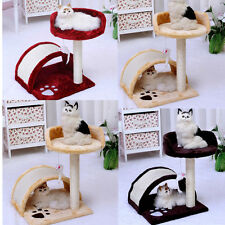 Cat Tree Scratcher Scratch Post Scratching Activity Centre Sisal Bed 3 color HT