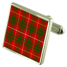 Bruce Tartan Cufflinks Choice of Silver Gold Engraved Lape Pin Gift APS043