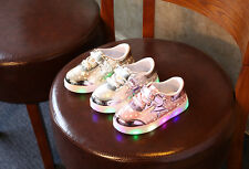 Unisex Light Up LED Shoes For Baby Toddler And Youth Kids Athletics Sneakers USA