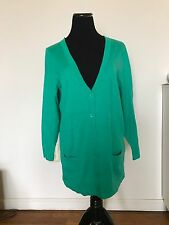 JONES NEW YORK WOMEN CARDIGAN S,M GREEN BUTTON LONG KNIT SWEATER TOP NWOT