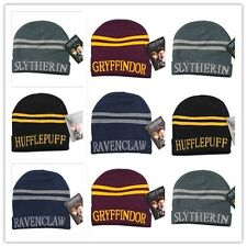 New Harry Potter Hat Beanie Gryffindor Hufflepuff Slytherin Ravenclaw Wool Cap