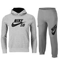 NIKE JUNIOR BOYS /GIRLS FULL HOODED TRACKSUIT GREY AGE 8 TO 15 YEARS