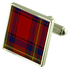 OLIVER Tartan Cufflinks Choice of Silver Gold Engraved Lape Pin Gift APS043