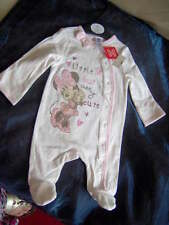 BABY PINK-BLUE MICKEY-MINNIE MOUSE SLEEPSUIT  -AGES BIRTH to AGE TWO