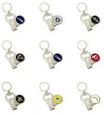NFL 3-IN-1 KEYCHAIN, NAIL CLIPPERS, BOTTLE OPENER, KEY RING PICK THE NFL TEAMS