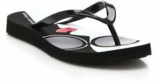 Alice And Olivia Women's Stacey Face Flip Flops Black Chooes Sizes