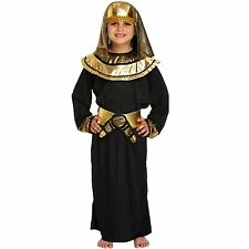 Egyptian Pharaoh Kings Fancy Dress Costume Boys Outfit Egypt Historic Ancient