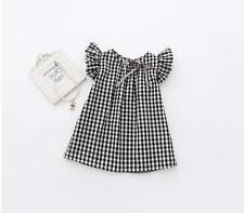 2017 Baby Girls Newborn Toddler Infant Dress Summer Party Outfit Tshirt Top Cute
