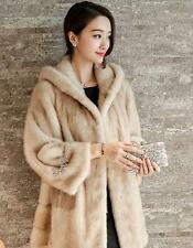 Luxury fur hooded women parka Long Jacket Warm Snow overcoat winter slim coat
