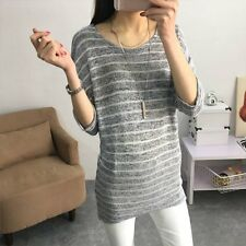 Women Lady Oversized Batwing Sleeve Knitted Sweater Tops Loose Cardigan Outwear