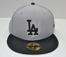 2 TONE NEW ERA 59FIFTY CAP LA DODGERS CUSTOM GREY WITH BK MLB AUTHENTIC FITTED