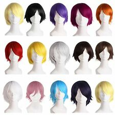 Man Fashion Light Short Straight Hair Wig For Comic Cosplay Party Hot Sell AC