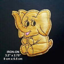 Cute Elephant Iron-on Embroidered Emblem Pet Patch Cute Wild Animal Applique