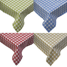 100% Cotton Gingham Check Tablecloth Dining Room Kitchen Linen Table Protector