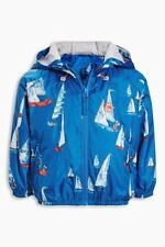 BNWT NEXT Boys Blue Boat Cagoule Coat Jacket With Hood 2-3-4-5 Years