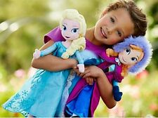 "2 pcs 20"" Disney Frozen Princes Elsa/Anna  Soft Stuffed Plush Doll Gift Toy"