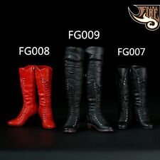 """1/6 Scale Sexy Female High Heels Mid Boots Combat Shoes Model Toys F 12"""" Figure"""