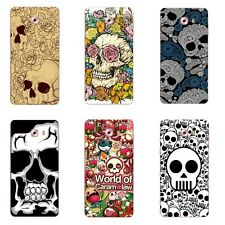 Case For Samsung Galaxy C9 Pro C9000 Soft TPU Silicone Skin Back Cover Skulls