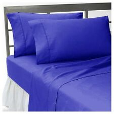 NEW BEDDING SHEETS COLLECTION 1000TC EGYPTIAN COTTON EGYPTIAN BLUE SOLID UK SIZE