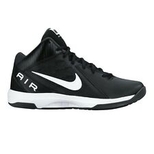 Nike Air Overplay IX MEN'S BASKETBALL SHOES, BLACK/WHITE-Size US 9.5, 10 Or 10.5