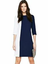 **Clearance** Definitions White/Navy 3/4 sleeve Tunic Dress sizes 8-24 RRP- £49