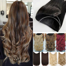 Blond Wire Hairpiece Curly Straight Hair Extension Headband Real Thick Hairpiece