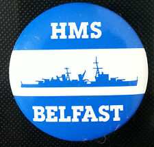 HMS BELFAST 38 mm pin badge