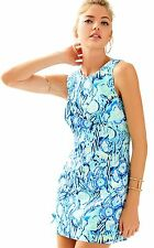 NWT LILLY PULITZER MILA SHIFT DRESS Indigo Sunset Swim Sz 4/6