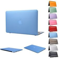 """Laptop Shell + Sleeve Rubberized Hard Case Cover for Macbook Air Pro 11"""" 13"""" 15"""""""