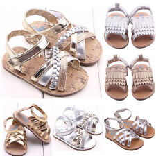 Cute Baby Girl Glitter Sandals Soft Sole Infant Princess Kid Non-Slip Shoes 0-1T