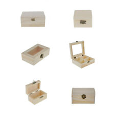 Plain Unpainted Wooden Storage Box Small Chest Tool Jewellery Case Unit Craft