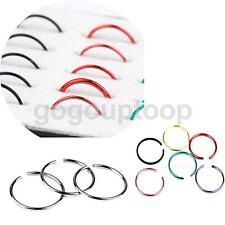 40Pcs Punk Style Stainless Steel Nose Studs Hoops Body Piercing Rings Jewelry