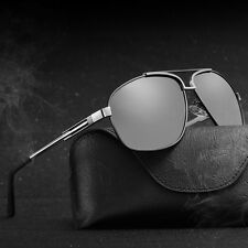 Mens Polarized Metal Retro Sunglasses Outdoor Aviator Driving Fishing Eyewear