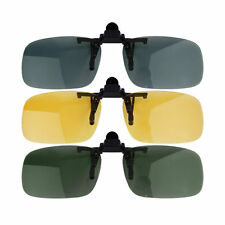 Clip-on Lens Polarized Day Night Vision Driving Glasses Sunglasses Eyewear AC