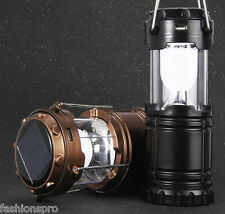 6 LED Hand Lamp Collapsible Solar Camping Lantern Tent Lights for Outdoor Sports