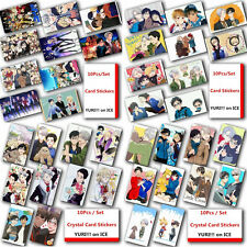 10Pcs/Set Japanese Anime YURI!!! on ICE Poster Photo Crystal Card Stickers