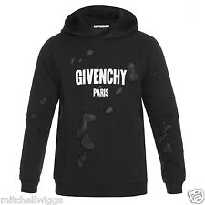 Givenchy Distressed Logo Print Hoodie Black XL - AUTHENTIC - SOLD OUT WORLDWIDE