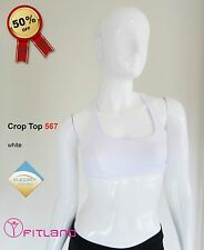 Womens Sport Bra, activewear, white, Fitland, new, size 8, 10, 12, S, M, L