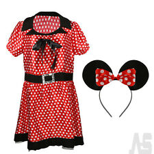 Ladies Sexy Naughty Missy Mouse Fancy Dress Cosplay Costume Minnie Disney Outfit