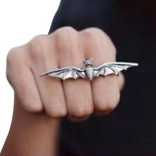 Fashion Cool Unisex Vampire Bat Wing Two/ Double Finger Stretch Adjustable Ring*
