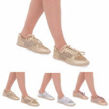 New Women Banded Ladies Ankle Glitter Lace Up Espadrilles Shoes Sandals Flats3-8