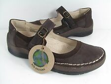 NEW in BOX Women's JAMBU 'Sloane' BROWN MARY JANE FLAT SANDAL SHOE
